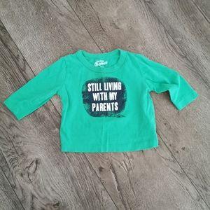 3/$12 Oshkosh B'gosh Boy Long sleeve shirt green